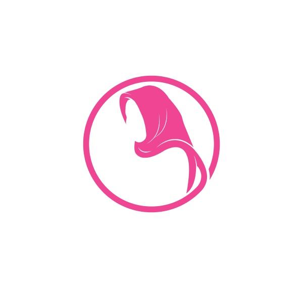 hijab logo vektor kultur der frau