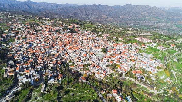 aerial pano lefkara larnaca zypern
