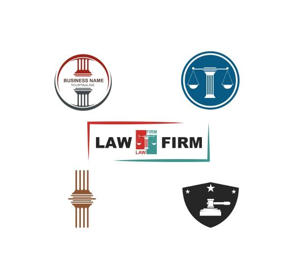law logo vektor vorlage