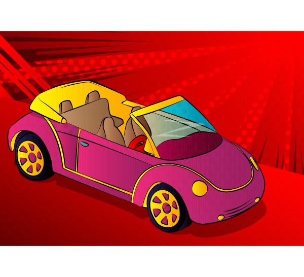 illustration eines coolen cabriolet autos