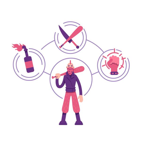 rebel archetyp flaches konzept vektor illustration