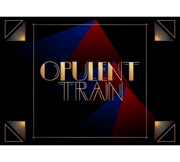 art deco opulent train text