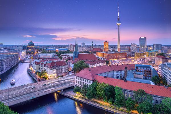 panoramablick auf das stadtzentrum von berlin
