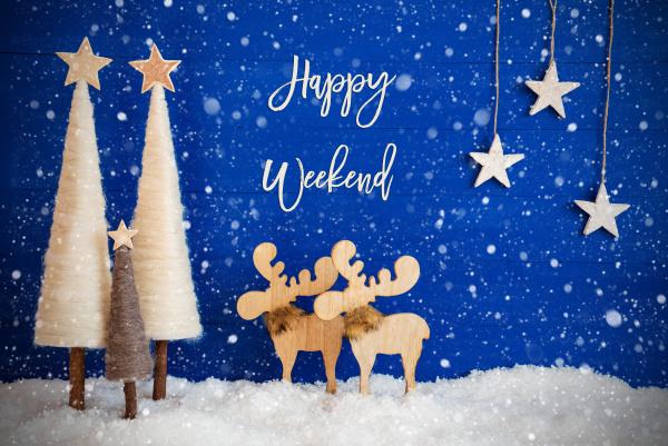 weihnachtsbaum elch schnee stern text happy