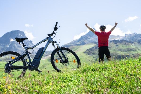 e fahrrad mountainbike in OEsterreich