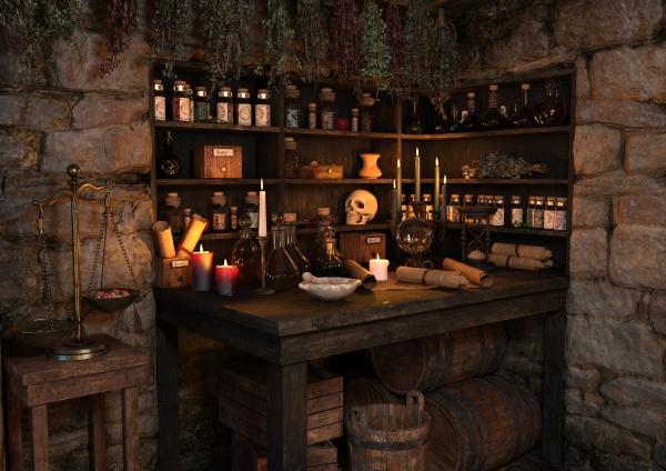 3d rendering mittelalterliche fantasy cottage