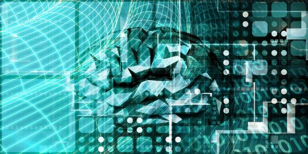 futuristische technologie mit autonomer ki brain