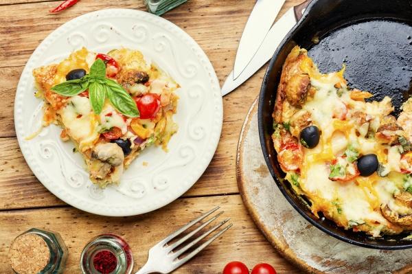 scheiben italienische klassische pizza