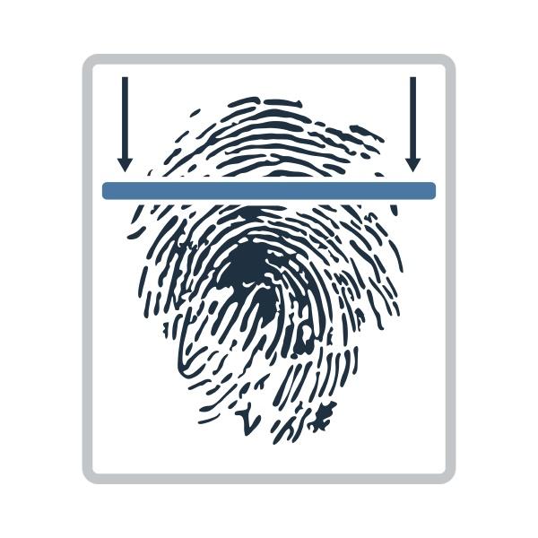 fingerabdruck scan symbol