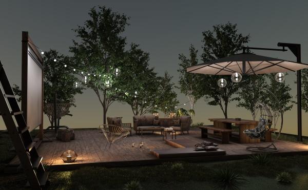 3d-rendering, home, movie, außerhalb - 28866705