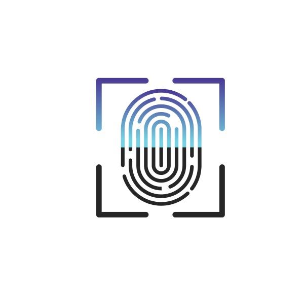 fingerabdruck logo symbol illustration vektor vorlage