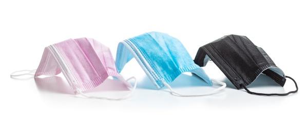 corona virusschutz bunte medizinische papier gesichtsmasken