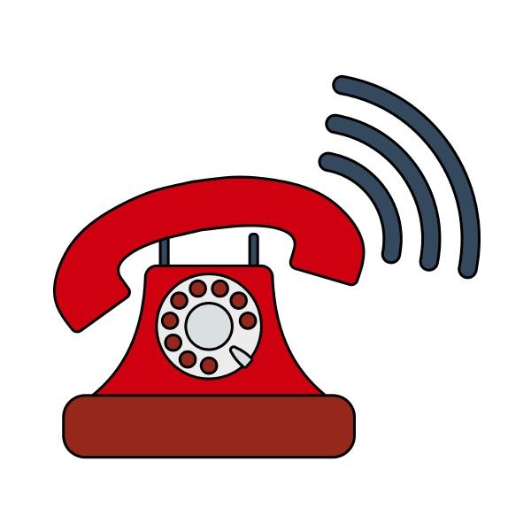 altes telefon symbol