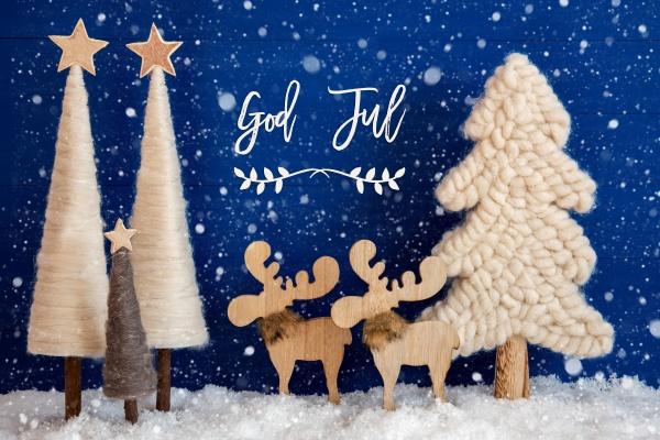weihnachtsbaum elch schnee gott jul bedeutet