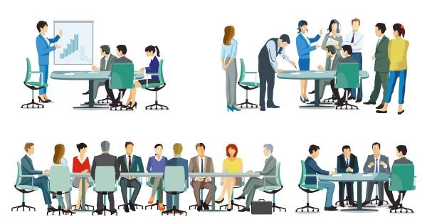 business team bei einer kooperation business