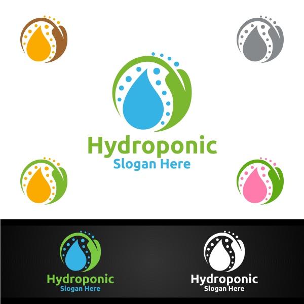 wasser hydroponic gaertner logo mit gruenen
