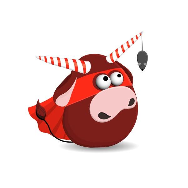 jahr des stier postkartenplatzes lustige weihnachten