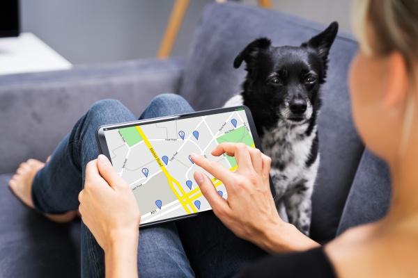 halten der gps navigator karte auf