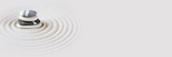 zen japanischen garten hintergrund horizontales banner