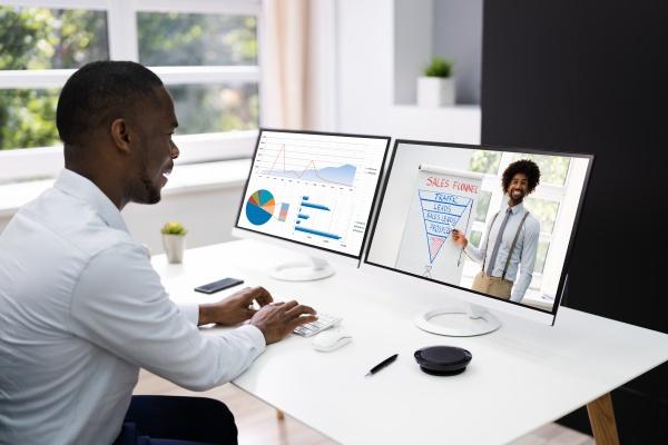 virtuelle online schulungsvideokonferenz