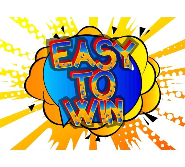 easy to win comic buch stil