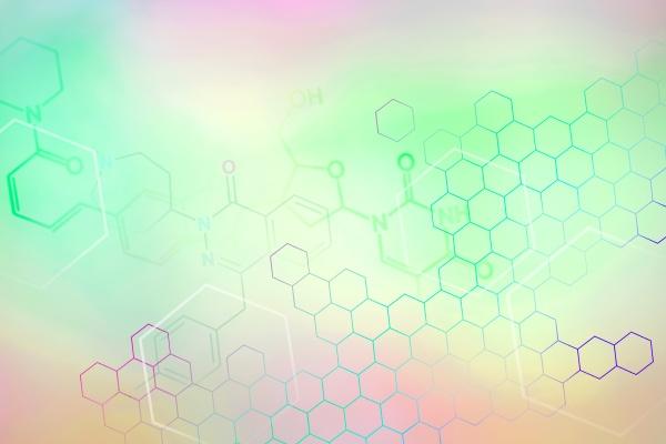chemische symbole auf pastellfarbenem hintergrund