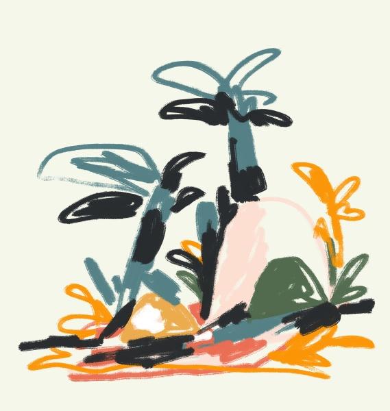 abstrakte pflanze und strauch entwurf kunst