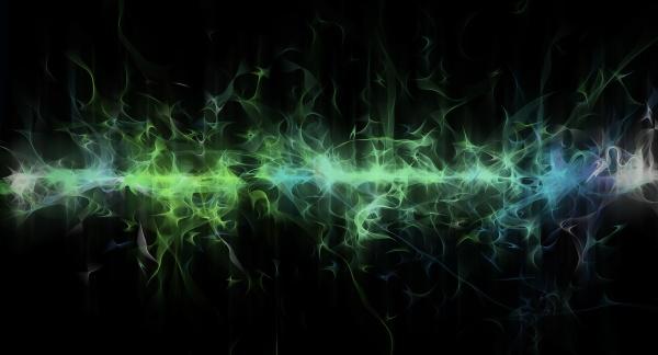 abstrakte gluehende gruene linie digitale