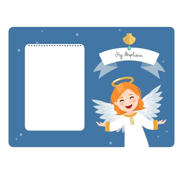fliegender engel taufe horizontale einladung auf