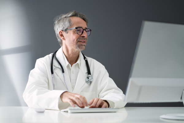 doctor computer video conference