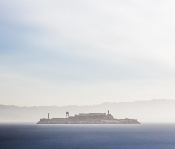alcatraz island am morgen san francisco