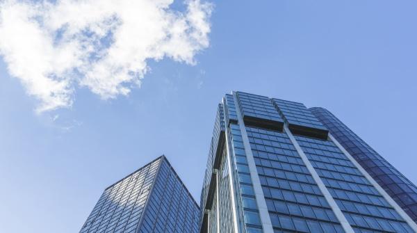 deutschland frankfurt moderne wolkenkratzer im finanzviertel