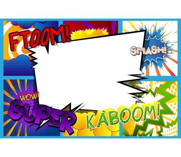 comic pop art hintergrund mit platz