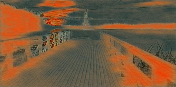 malerische illustration eines sonnenuntergangs