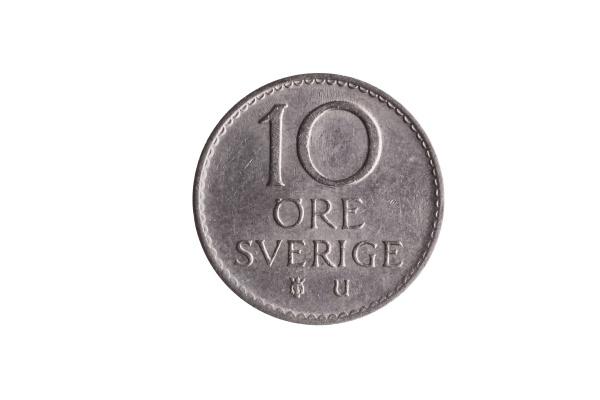 schweden muenze 10 erz gustaf vi