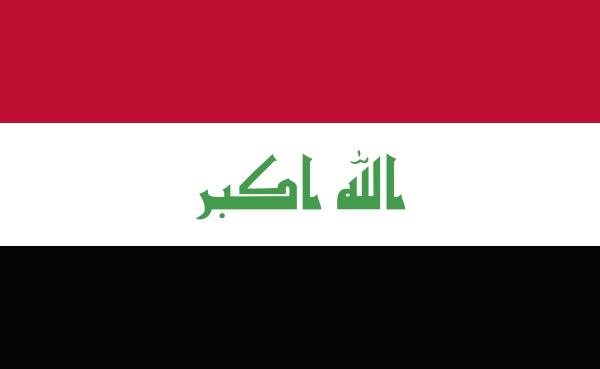 irak nationalflagge in genauen proportionen