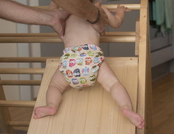 saeugling oder baby in windel