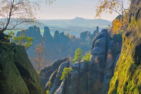 berg schrammsteine in der saechsischen schweiz