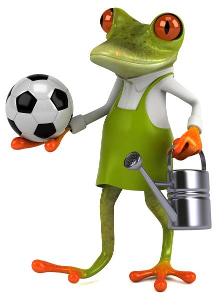spass frosch gaertner 3d illustration