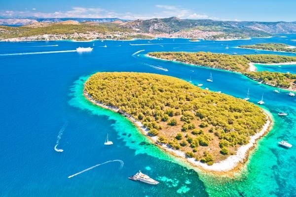 pakleni otoci segelziel archipel luftbild hvar