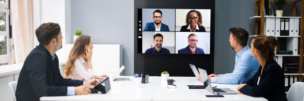 online video konferenz social distancing business