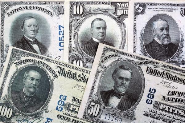 banknoten der nationalbank us