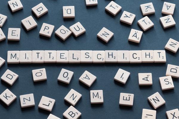 mittelschicht deutsch wort briefe design kollektivbegriff