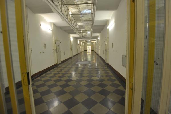 der, leere, korridor, eines, gefängnisses - 29685631