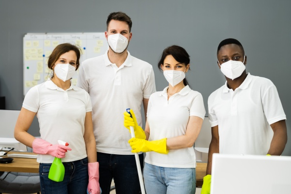 cleaning janitor team cleaner group