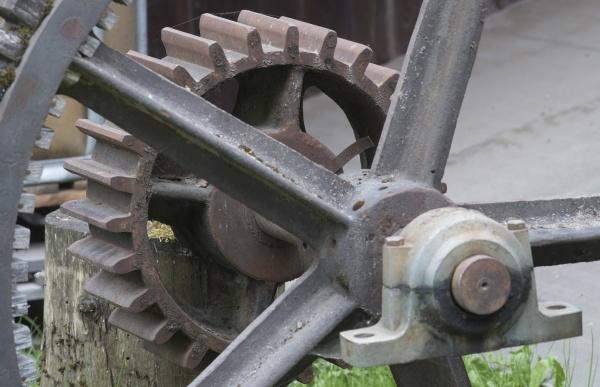 ein zahnrad oder zahnrad aus metall