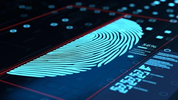 3d illustration der kuenstlichen fingerabdruck erzeugungskonzept