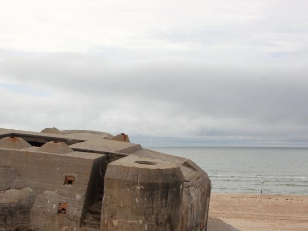 ww2 deutscher bunker mit blick auf