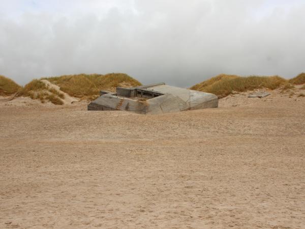 deutscher, kriegsbunker, an, der, küste, dänemarks - 29745649