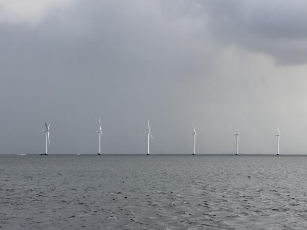 ocean, sea, windmill, in, line, at - 29745819
